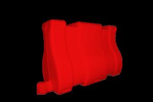 Separator ruchu U-25c czerwony